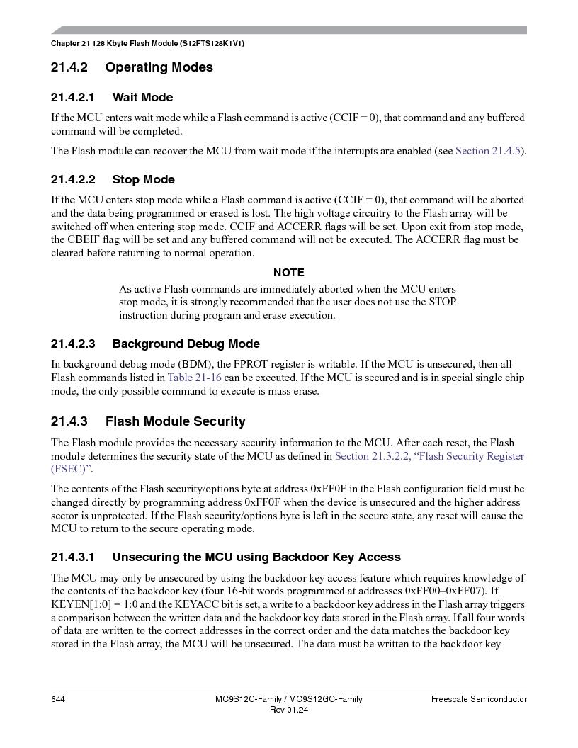 MC9S12GC96VFUE ,Freescale Semiconductor厂商,IC MCU 96K FLASH 25MHZ 80-QFP, MC9S12GC96VFUE datasheet预览  第644页