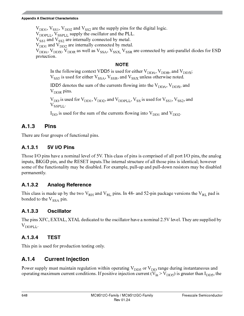 MC9S12GC96VFUE ,Freescale Semiconductor厂商,IC MCU 96K FLASH 25MHZ 80-QFP, MC9S12GC96VFUE datasheet预览  第648页