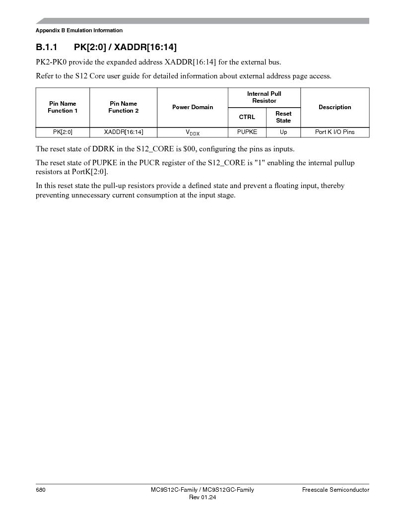 MC9S12GC96VFUE ,Freescale Semiconductor厂商,IC MCU 96K FLASH 25MHZ 80-QFP, MC9S12GC96VFUE datasheet预览  第680页