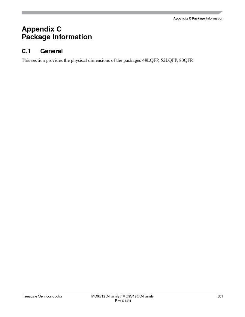 MC9S12GC96VFUE ,Freescale Semiconductor厂商,IC MCU 96K FLASH 25MHZ 80-QFP, MC9S12GC96VFUE datasheet预览  第681页