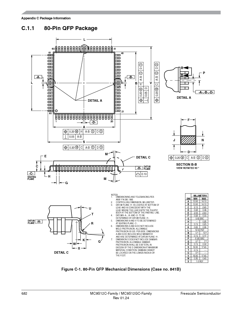 MC9S12GC96VFUE ,Freescale Semiconductor厂商,IC MCU 96K FLASH 25MHZ 80-QFP, MC9S12GC96VFUE datasheet预览  第682页