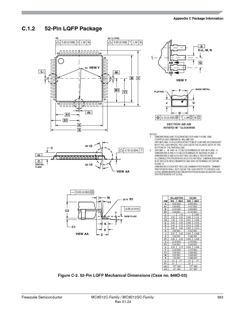 MC9S12GC96VFUE ,Freescale Semiconductor厂商,IC MCU 96K FLASH 25MHZ 80-QFP, MC9S12GC96VFUE datasheet预览  第683页