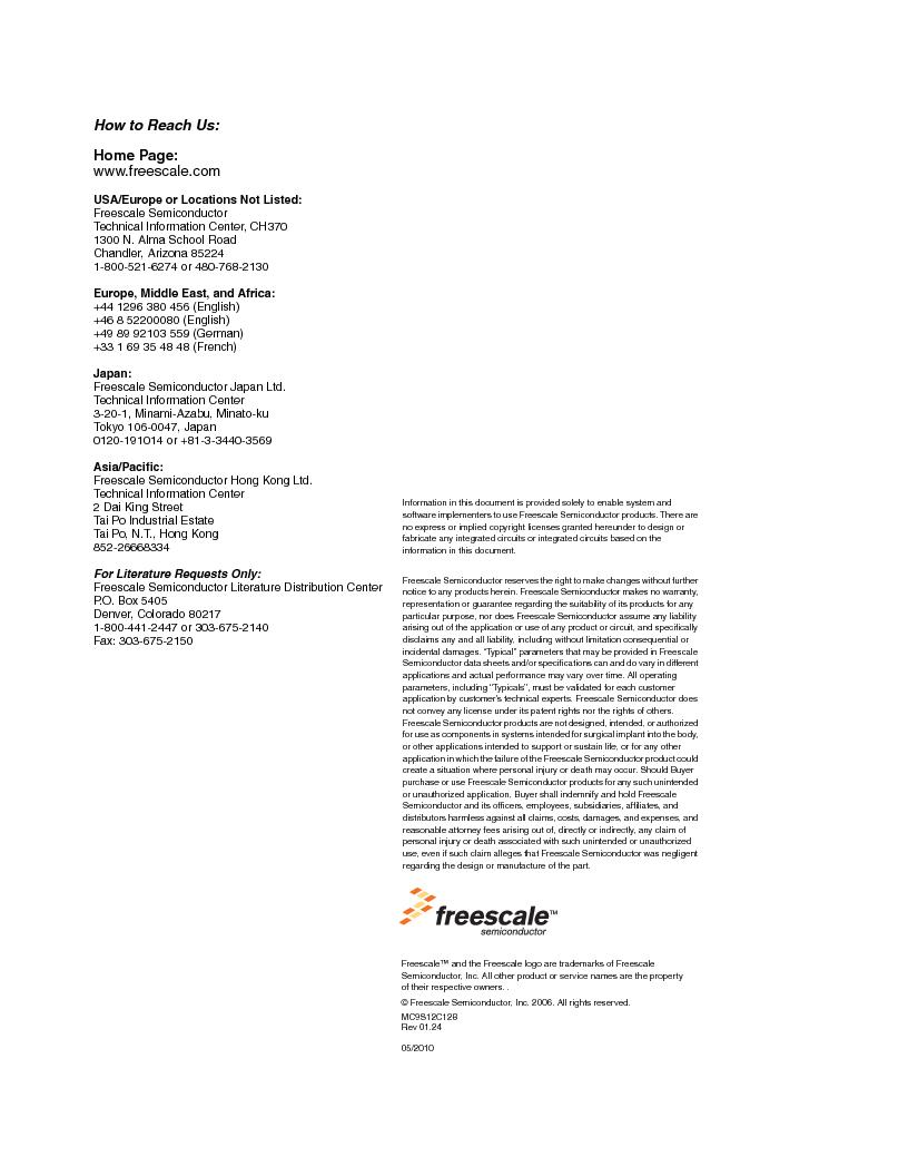MC9S12GC96VFUE ,Freescale Semiconductor厂商,IC MCU 96K FLASH 25MHZ 80-QFP, MC9S12GC96VFUE datasheet预览  第690页