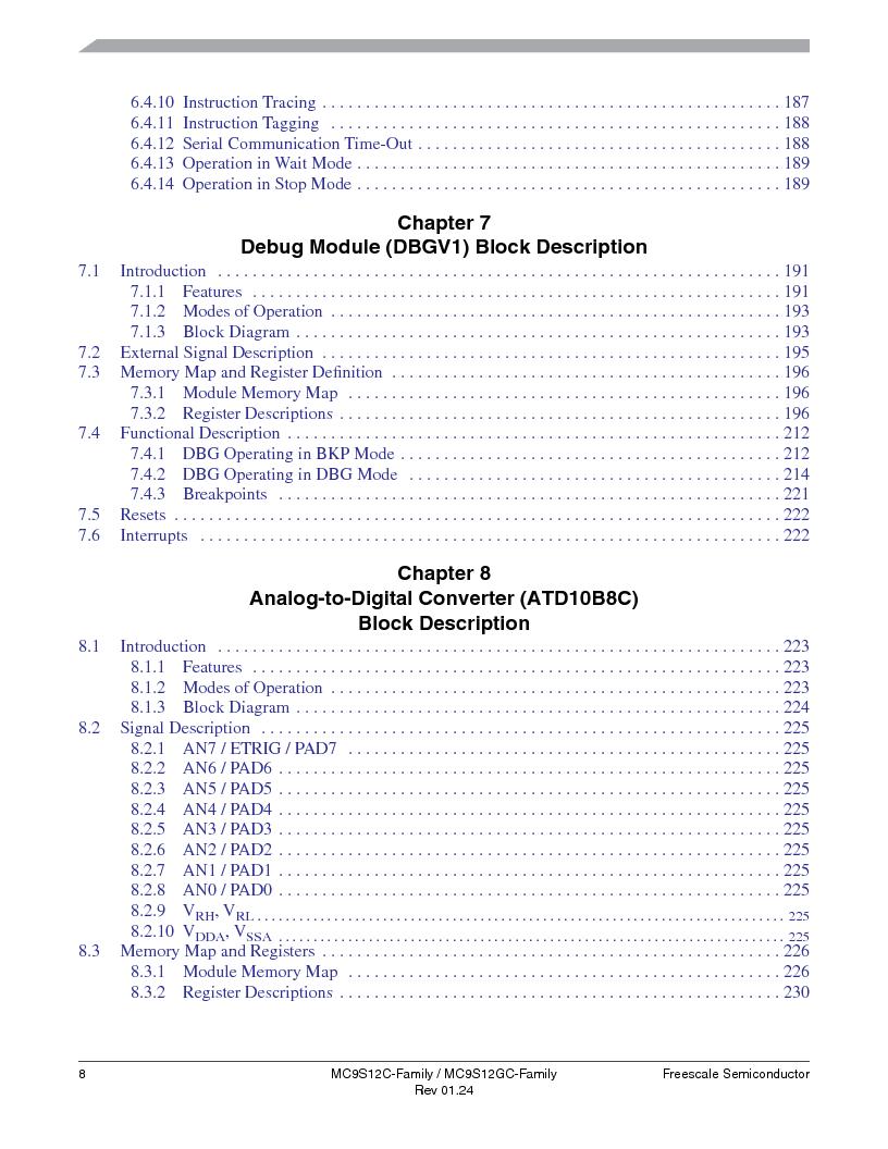 MC9S12GC96VFUE ,Freescale Semiconductor厂商,IC MCU 96K FLASH 25MHZ 80-QFP, MC9S12GC96VFUE datasheet预览  第8页
