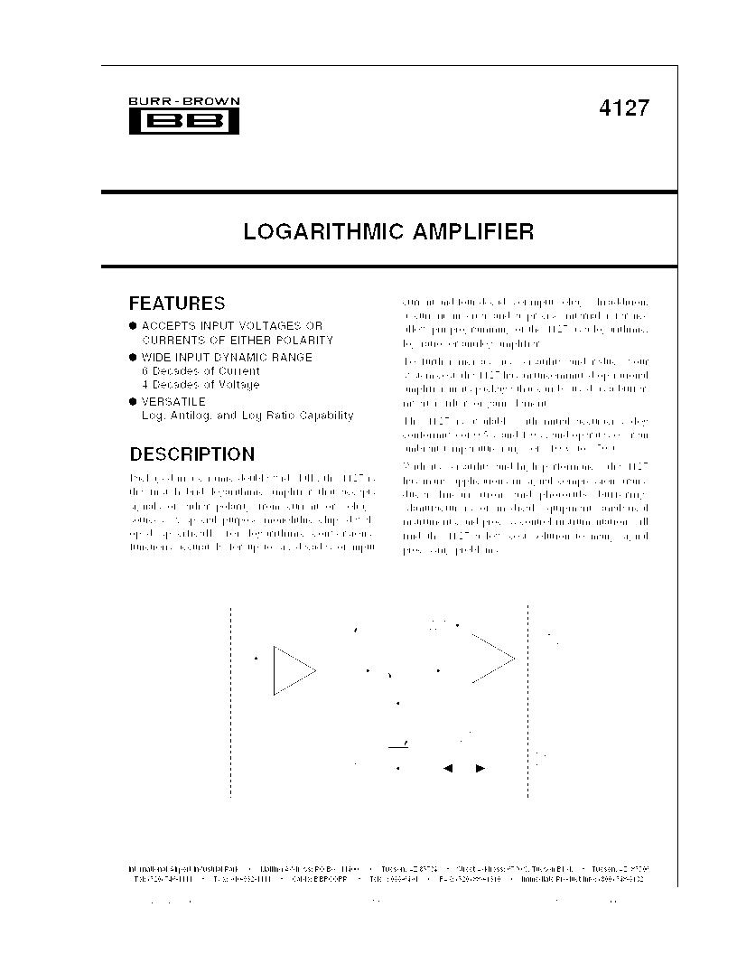 4127KG ,Texas Instruments厂商,IC OPAMP LOGAR 90KHZ DUAL 20CDIP, 4127KG datasheet预览  第1页