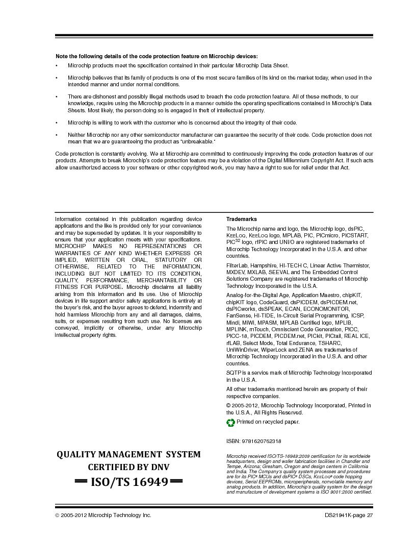 24LC1025-I/SM ,Microchip Technology厂商,IC EEPROM 1MBIT 400KHZ 8SOIC, 24LC1025-I/SM datasheet预览  第27页