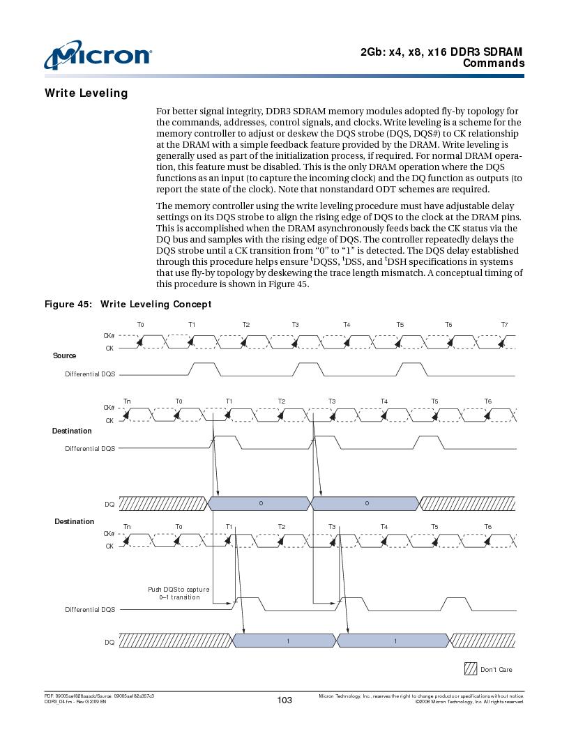 MT41J128M16HA-187E:D ,Micron Technology Inc厂商,IC DDR3 SDRAM 2GBIT 96FBGA, MT41J128M16HA-187E:D datasheet预览  第103页