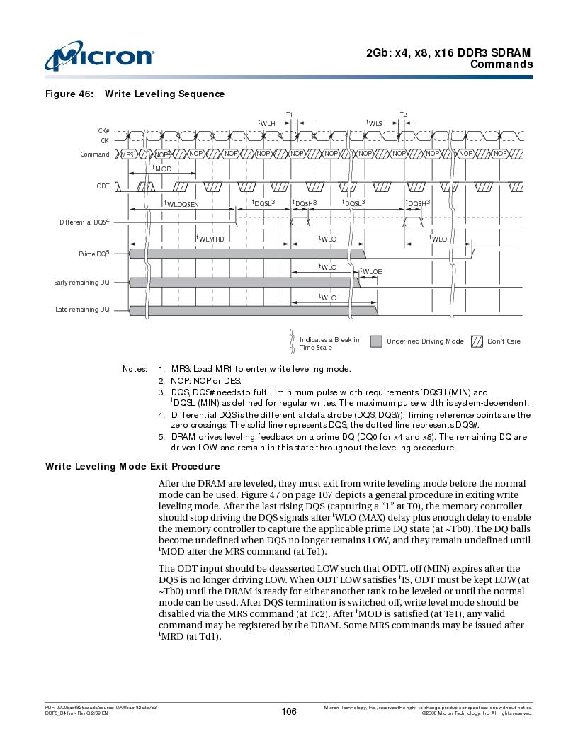 MT41J128M16HA-187E:D ,Micron Technology Inc厂商,IC DDR3 SDRAM 2GBIT 96FBGA, MT41J128M16HA-187E:D datasheet预览  第106页