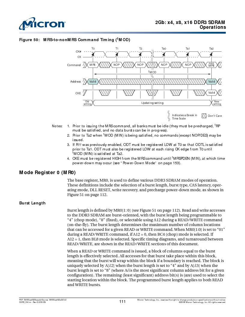 MT41J128M16HA-187E:D ,Micron Technology Inc厂商,IC DDR3 SDRAM 2GBIT 96FBGA, MT41J128M16HA-187E:D datasheet预览  第111页