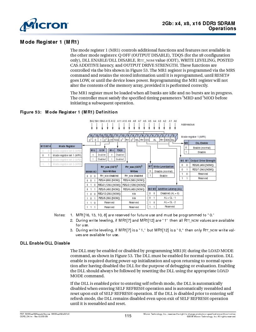 MT41J128M16HA-187E:D ,Micron Technology Inc厂商,IC DDR3 SDRAM 2GBIT 96FBGA, MT41J128M16HA-187E:D datasheet预览  第115页