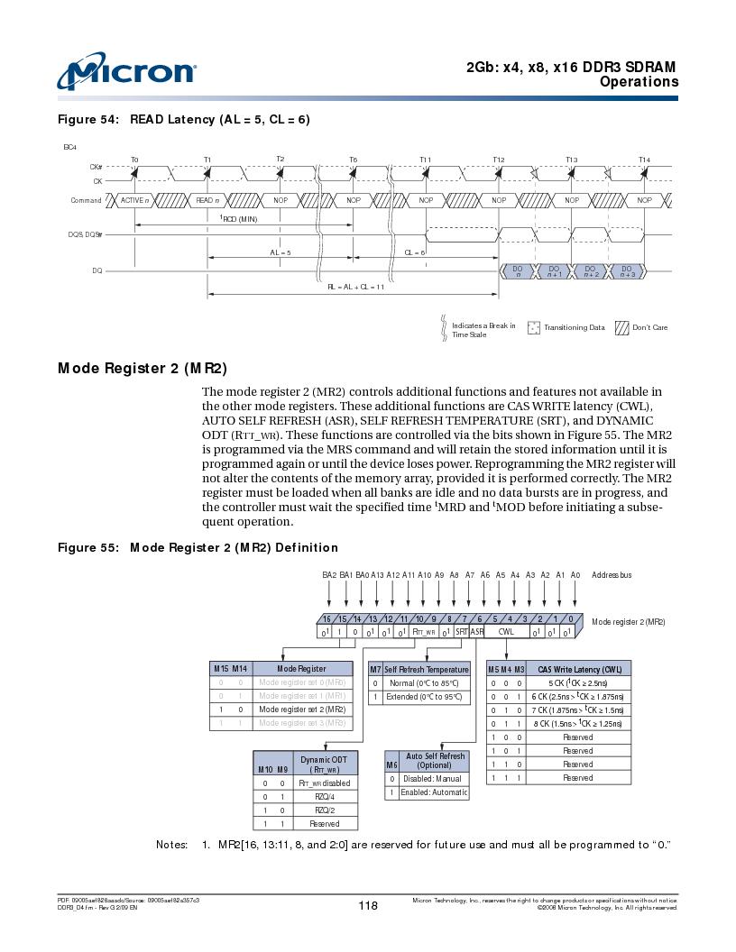 MT41J128M16HA-187E:D ,Micron Technology Inc厂商,IC DDR3 SDRAM 2GBIT 96FBGA, MT41J128M16HA-187E:D datasheet预览  第118页