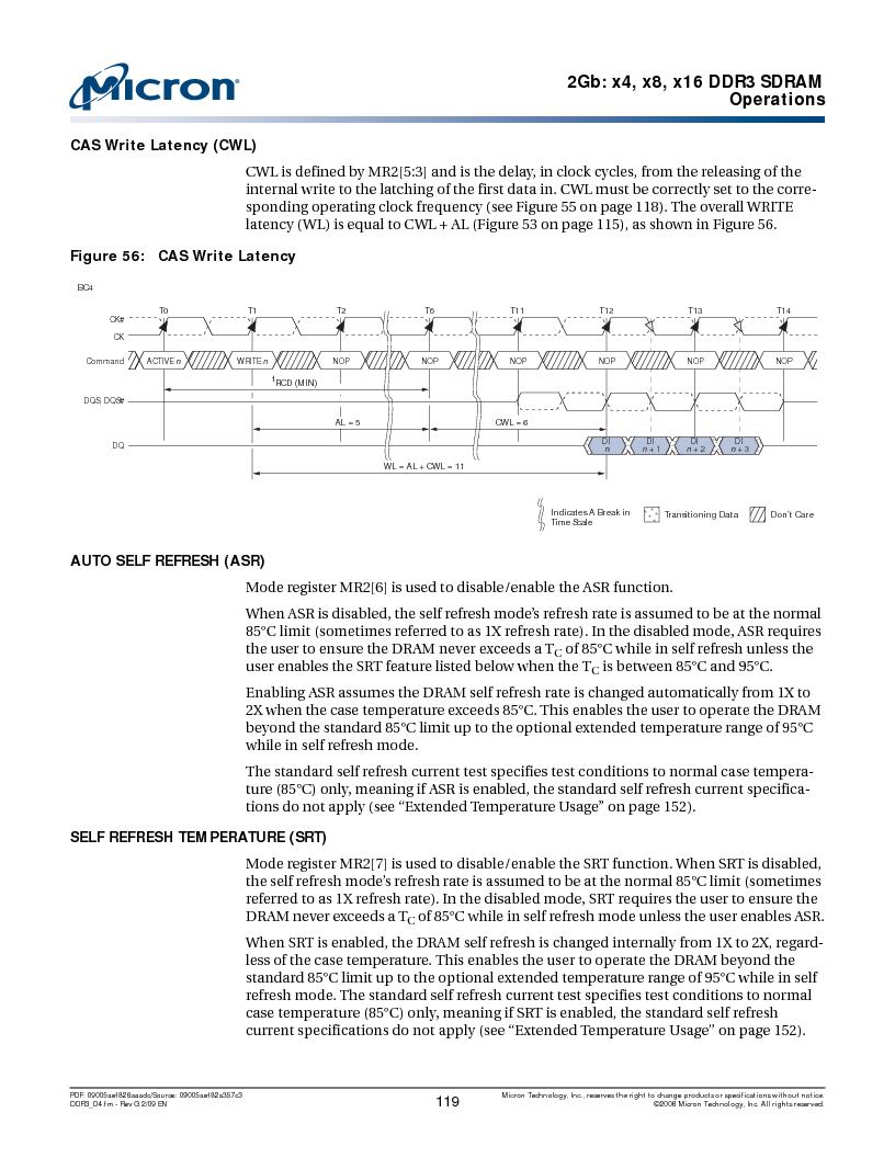 MT41J128M16HA-187E:D ,Micron Technology Inc厂商,IC DDR3 SDRAM 2GBIT 96FBGA, MT41J128M16HA-187E:D datasheet预览  第119页