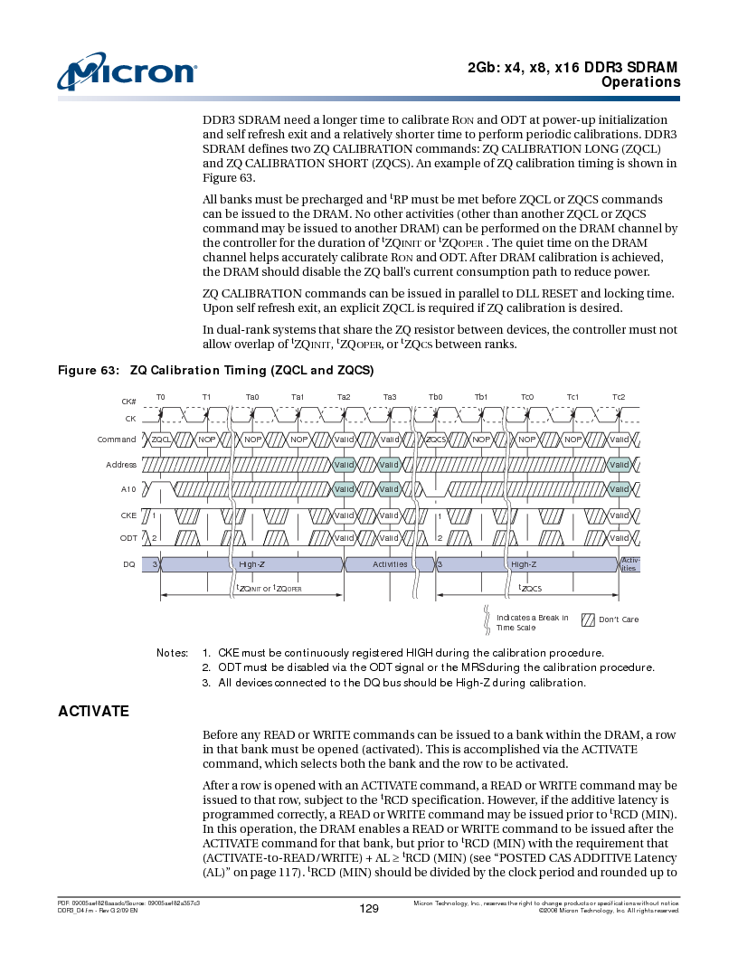 MT41J128M16HA-187E:D ,Micron Technology Inc厂商,IC DDR3 SDRAM 2GBIT 96FBGA, MT41J128M16HA-187E:D datasheet预览  第129页