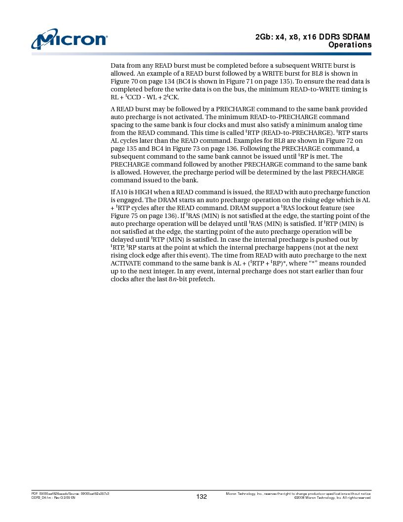 MT41J128M16HA-187E:D ,Micron Technology Inc厂商,IC DDR3 SDRAM 2GBIT 96FBGA, MT41J128M16HA-187E:D datasheet预览  第132页