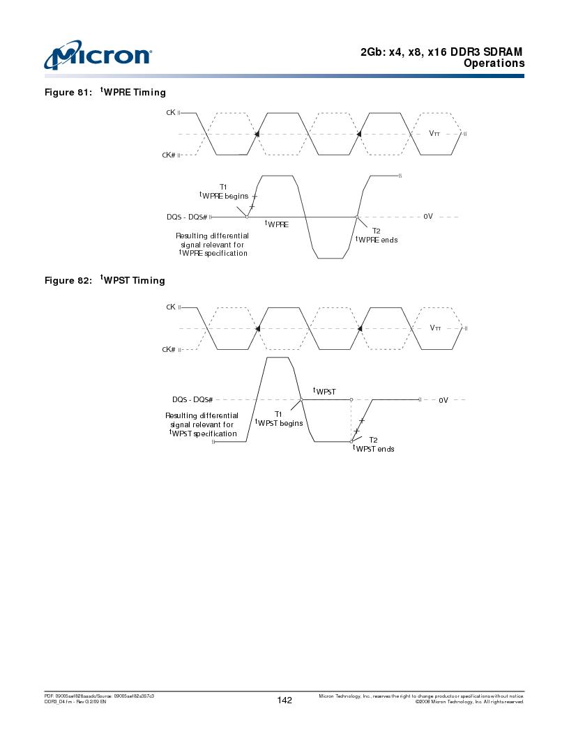 MT41J128M16HA-187E:D ,Micron Technology Inc厂商,IC DDR3 SDRAM 2GBIT 96FBGA, MT41J128M16HA-187E:D datasheet预览  第142页