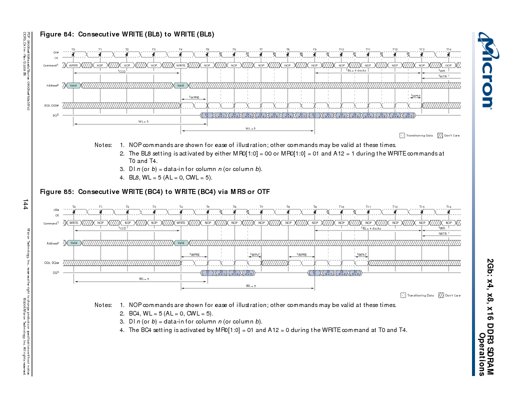 MT41J128M16HA-187E:D ,Micron Technology Inc厂商,IC DDR3 SDRAM 2GBIT 96FBGA, MT41J128M16HA-187E:D datasheet预览  第144页