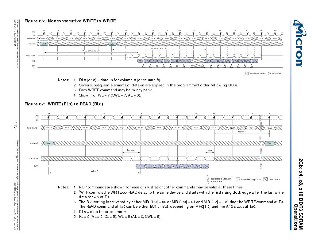 MT41J128M16HA-187E:D ,Micron Technology Inc厂商,IC DDR3 SDRAM 2GBIT 96FBGA, MT41J128M16HA-187E:D datasheet预览  第145页