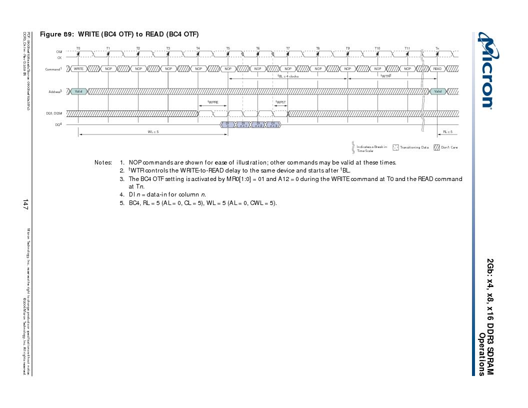 MT41J128M16HA-187E:D ,Micron Technology Inc厂商,IC DDR3 SDRAM 2GBIT 96FBGA, MT41J128M16HA-187E:D datasheet预览  第147页