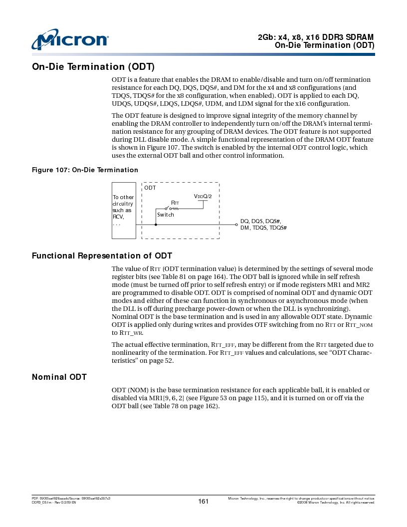 MT41J128M16HA-187E:D ,Micron Technology Inc厂商,IC DDR3 SDRAM 2GBIT 96FBGA, MT41J128M16HA-187E:D datasheet预览  第161页