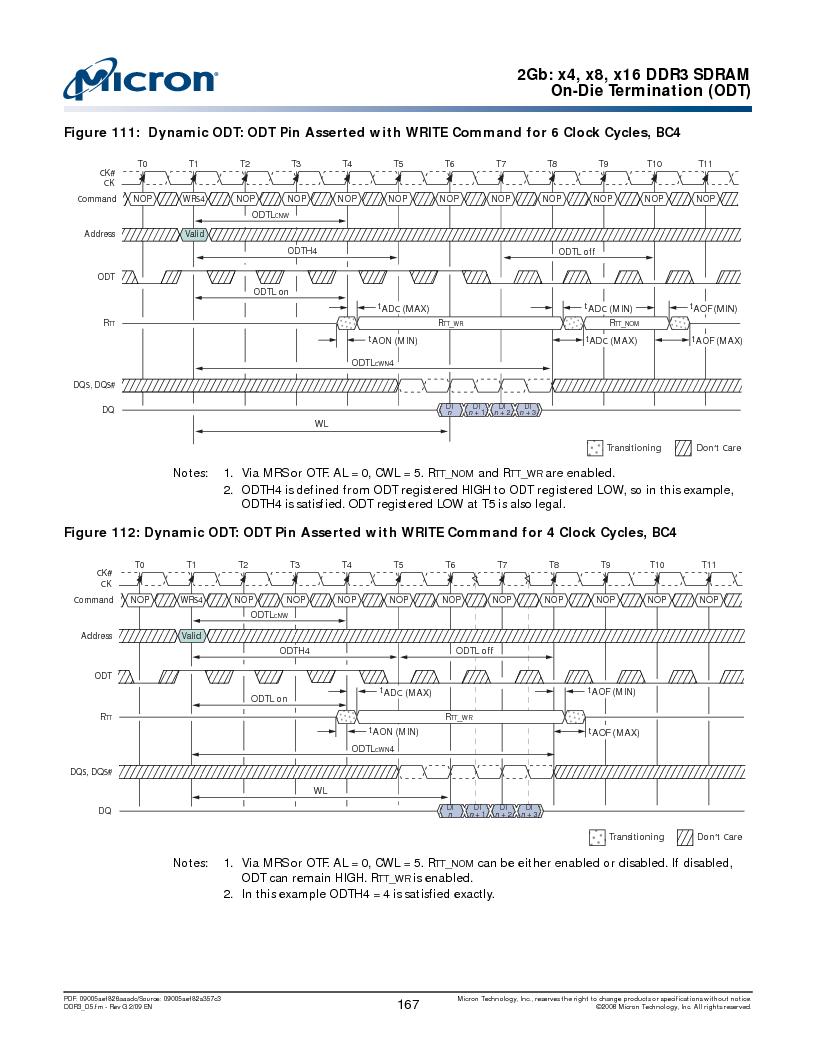 MT41J128M16HA-187E:D ,Micron Technology Inc厂商,IC DDR3 SDRAM 2GBIT 96FBGA, MT41J128M16HA-187E:D datasheet预览  第167页