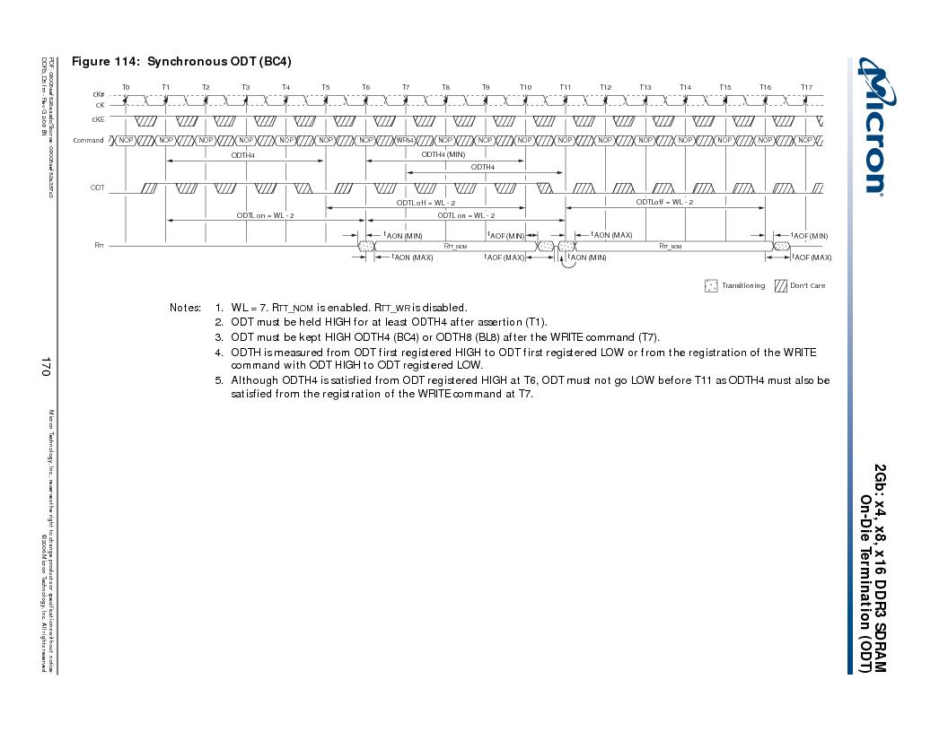 MT41J128M16HA-187E:D ,Micron Technology Inc厂商,IC DDR3 SDRAM 2GBIT 96FBGA, MT41J128M16HA-187E:D datasheet预览  第170页