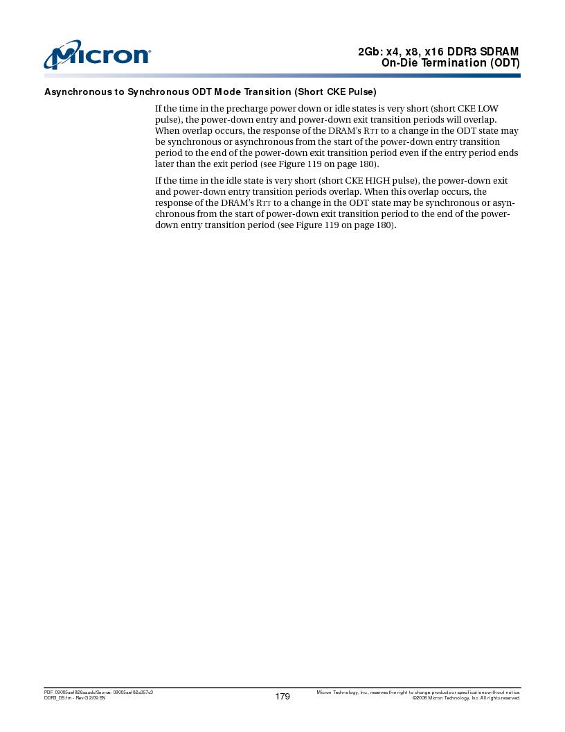 MT41J128M16HA-187E:D ,Micron Technology Inc厂商,IC DDR3 SDRAM 2GBIT 96FBGA, MT41J128M16HA-187E:D datasheet预览  第179页