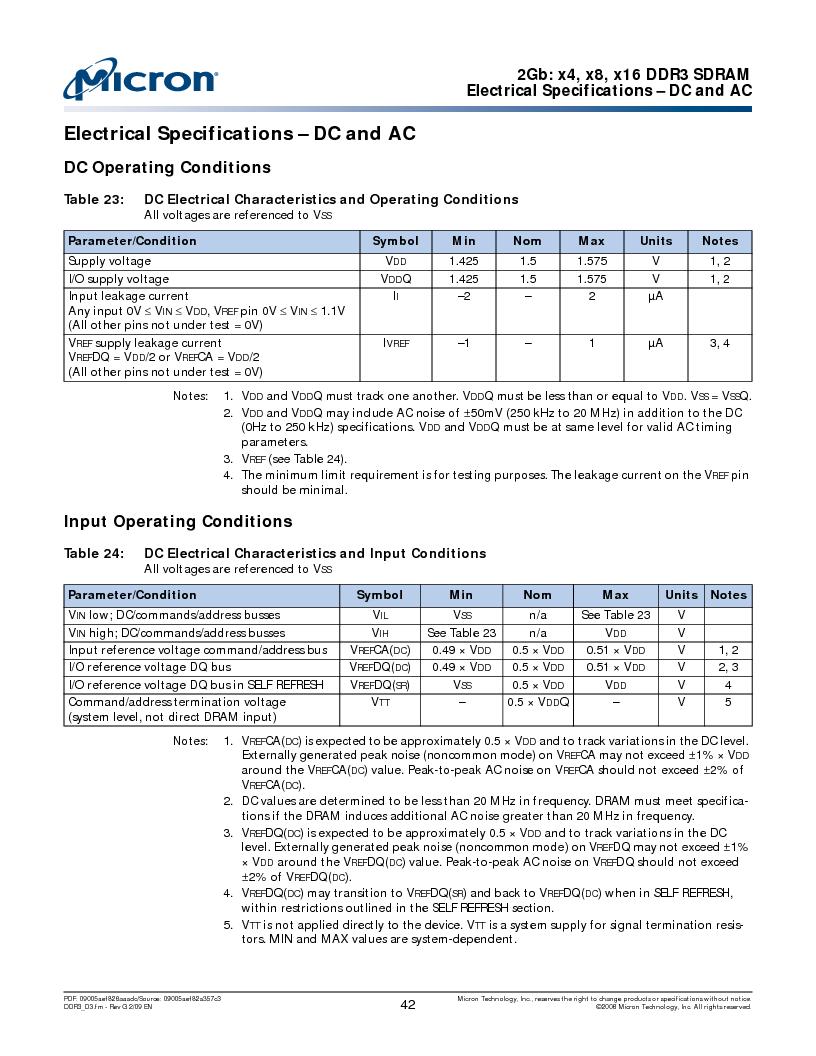 MT41J128M16HA-187E:D ,Micron Technology Inc厂商,IC DDR3 SDRAM 2GBIT 96FBGA, MT41J128M16HA-187E:D datasheet预览  第42页