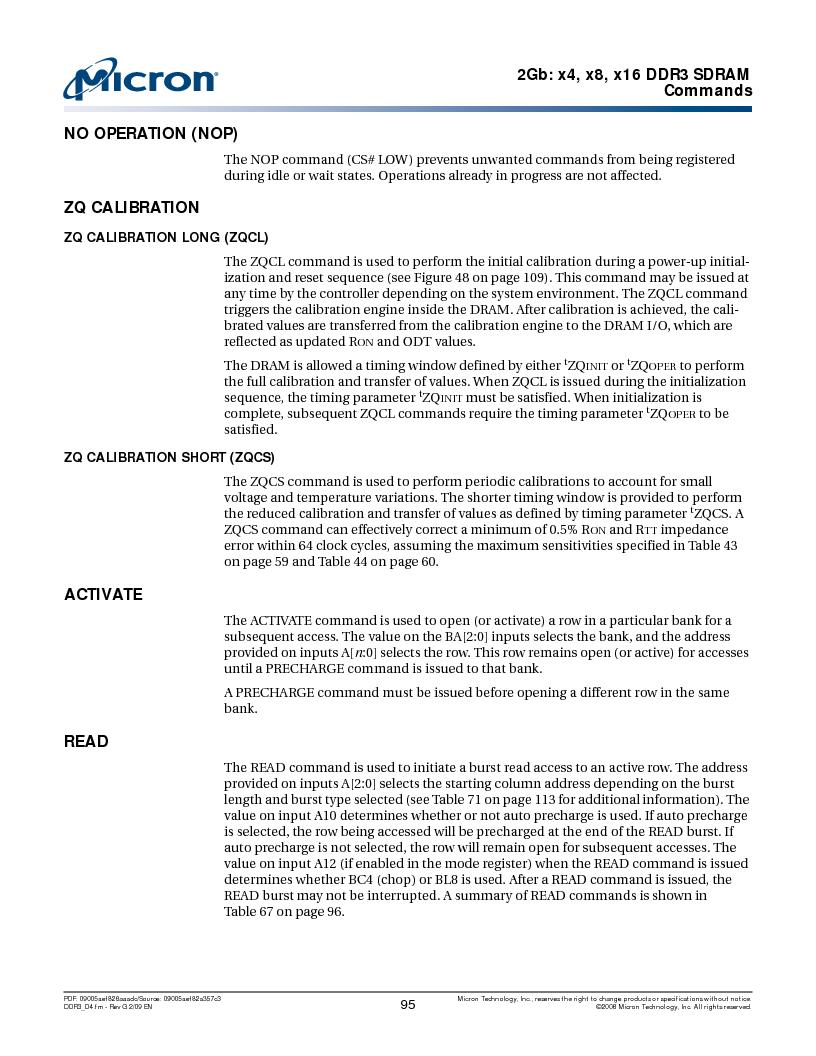 MT41J128M16HA-187E:D ,Micron Technology Inc厂商,IC DDR3 SDRAM 2GBIT 96FBGA, MT41J128M16HA-187E:D datasheet预览  第95页