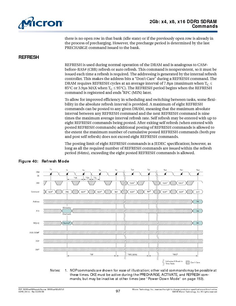 MT41J128M16HA-187E:D ,Micron Technology Inc厂商,IC DDR3 SDRAM 2GBIT 96FBGA, MT41J128M16HA-187E:D datasheet预览  第97页