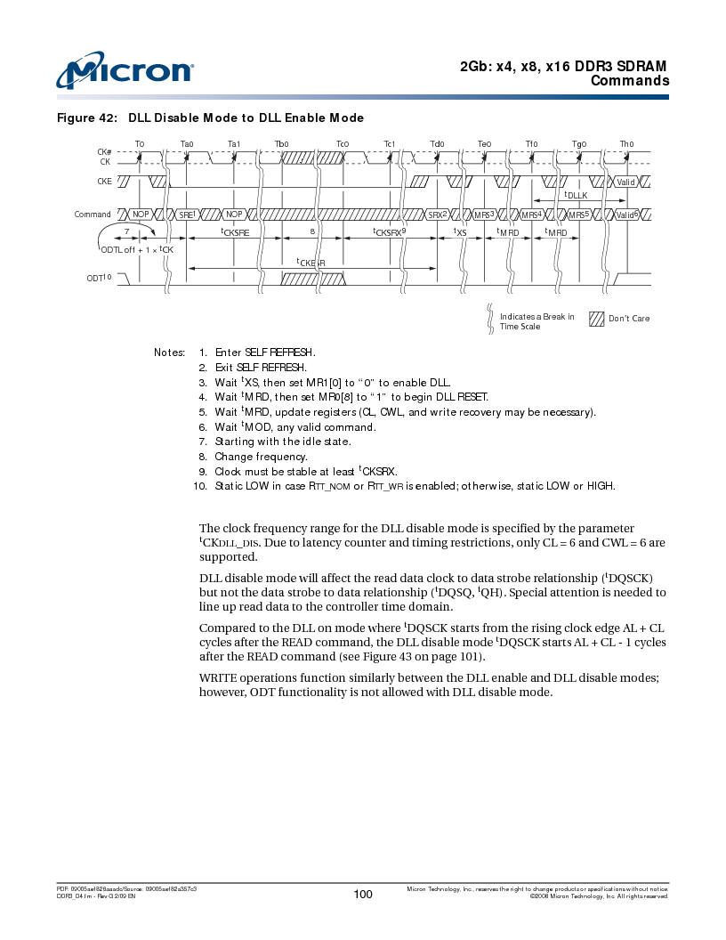MT41J128M16HA-187E:D ,Micron Technology Inc厂商,IC DDR3 SDRAM 2GBIT 96FBGA, MT41J128M16HA-187E:D datasheet预览  第100页