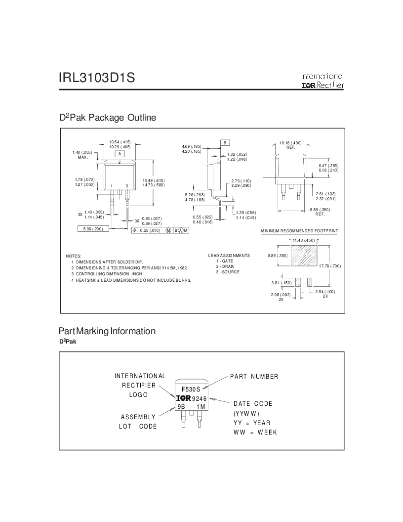 IRL3103D1STRL ,International Rectifier厂商,MOSFET N-CH 30V 64A D2PAK, IRL3103D1STRL datasheet预览  第6页