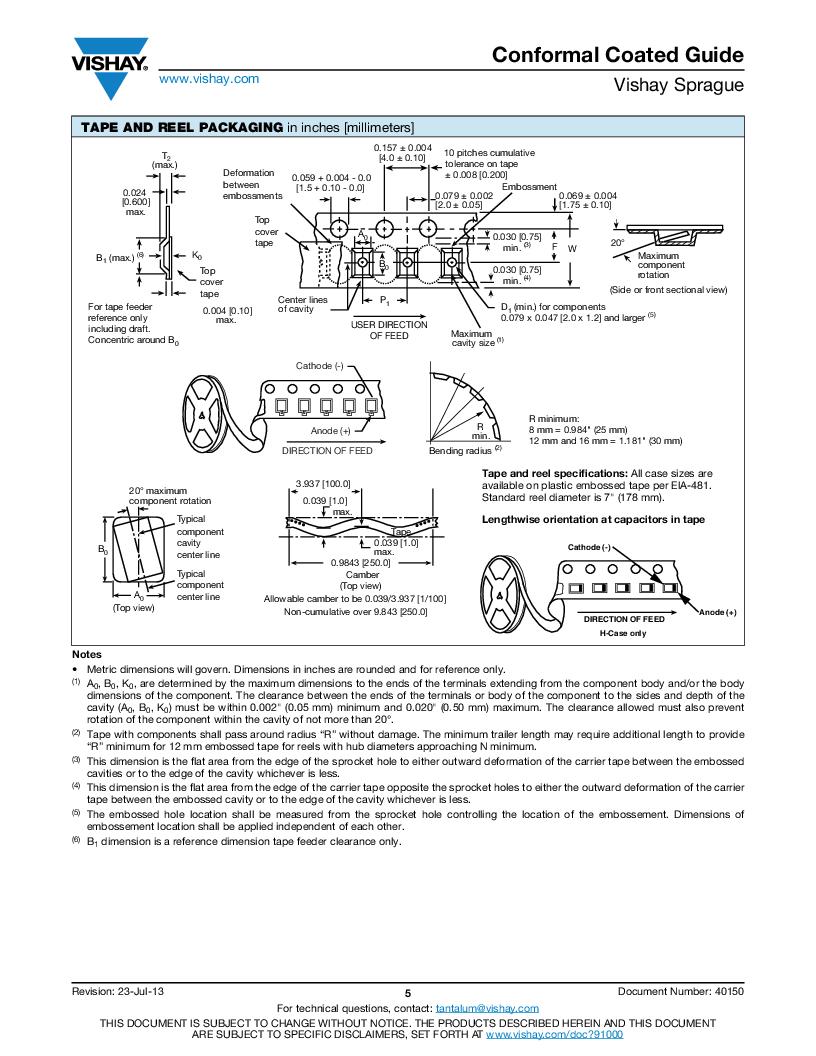 595D225X0020A2W ,Vishay Sprague厂商,CAP TANT 2.2UF 20V 20% 1507, 595D225X0020A2W datasheet预览  第17页