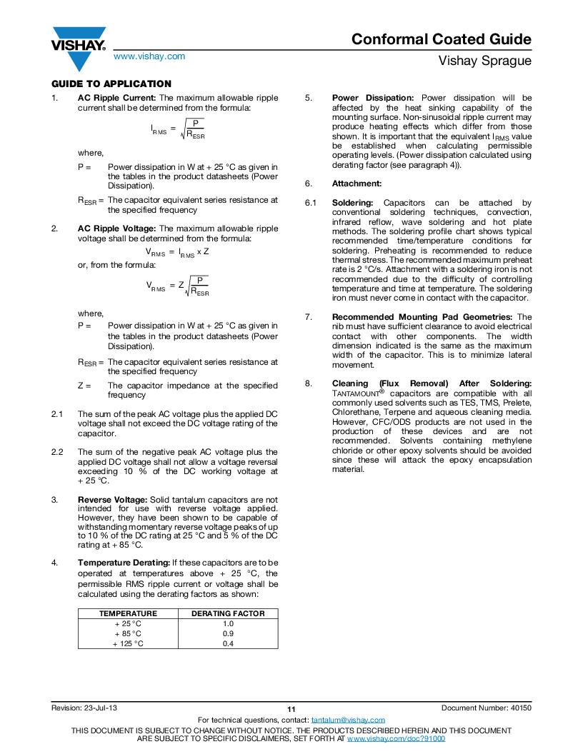 595D225X0020A2W ,Vishay Sprague厂商,CAP TANT 2.2UF 20V 20% 1507, 595D225X0020A2W datasheet预览  第23页