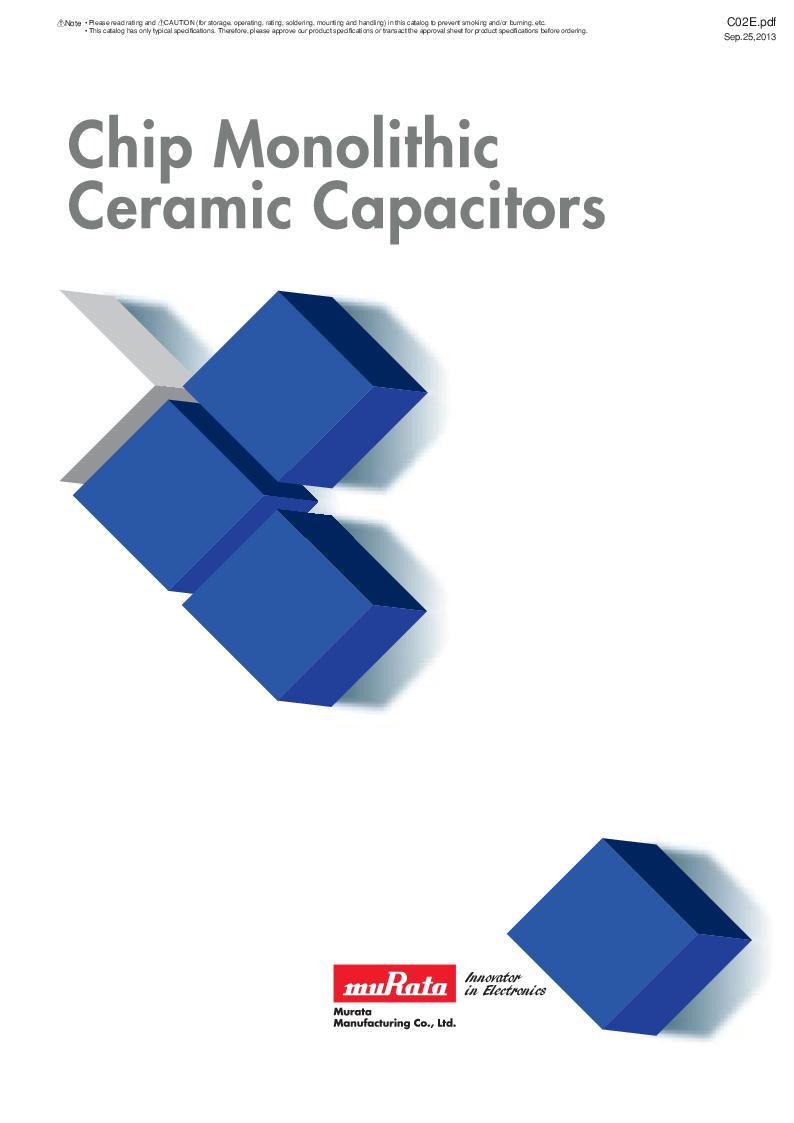 GRM21B7U2A162JZ01L ,Murata厂商,Multilayer Ceramic Capacitors MLCC - SMD/SMT 0.0016uF 100Volts U2J 5%, GRM21B7U2A162JZ01L datasheet预览  第1页