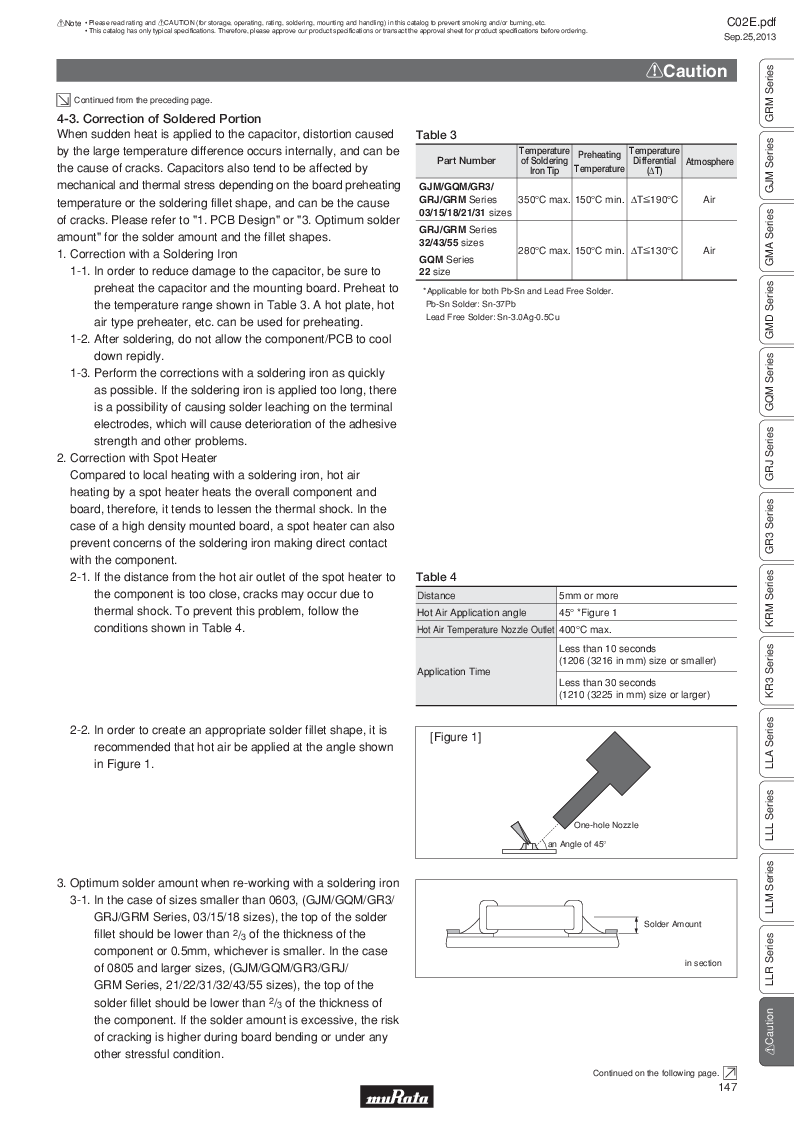GRM21B7U2A162JZ01L ,Murata厂商,Multilayer Ceramic Capacitors MLCC - SMD/SMT 0.0016uF 100Volts U2J 5%, GRM21B7U2A162JZ01L datasheet预览  第166页