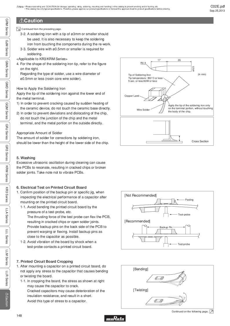 GRM21B7U2A162JZ01L ,Murata厂商,Multilayer Ceramic Capacitors MLCC - SMD/SMT 0.0016uF 100Volts U2J 5%, GRM21B7U2A162JZ01L datasheet预览  第167页