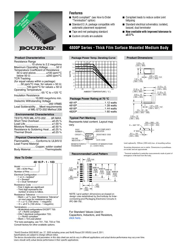 4814P-T01-473LF ,Bourns Inc.厂商,RES ARRAY 47K OHM 7 RES 14-SOIC, 4814P-T01-473LF datasheet预览  第1页