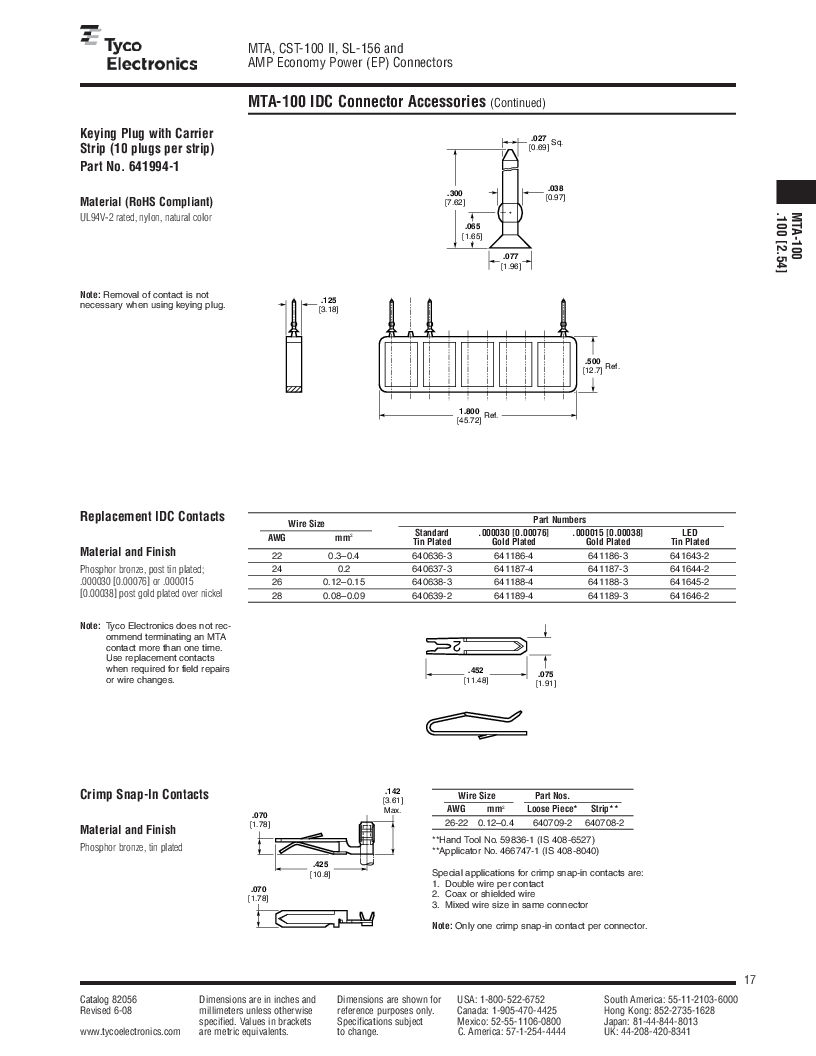 1-640455-4 ,TE Connectivity厂商,Headers & Wire Housings POLARIZED HEADER 14P Right Angle Post tin, 1-640455-4 datasheet预览  第17页