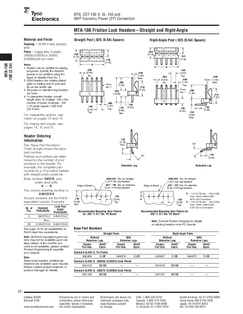 1-640455-4 ,TE Connectivity厂商,Headers & Wire Housings POLARIZED HEADER 14P Right Angle Post tin, 1-640455-4 datasheet预览  第24页