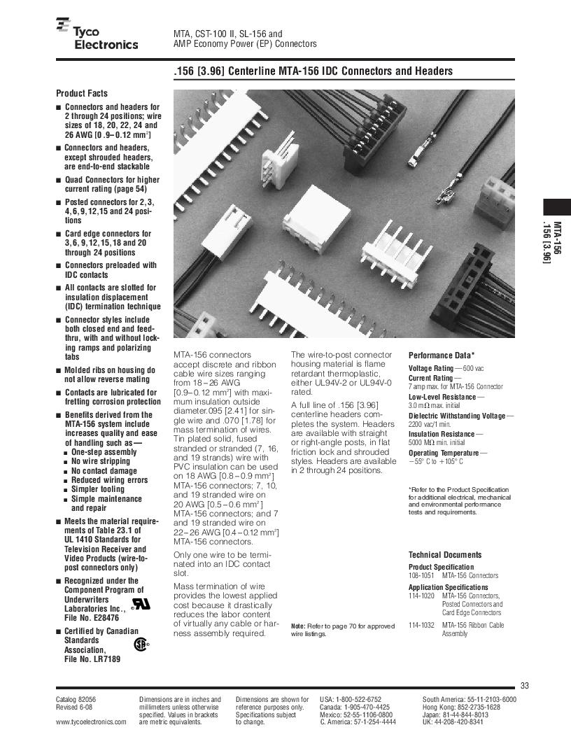 1-640455-4 ,TE Connectivity厂商,Headers & Wire Housings POLARIZED HEADER 14P Right Angle Post tin, 1-640455-4 datasheet预览  第33页