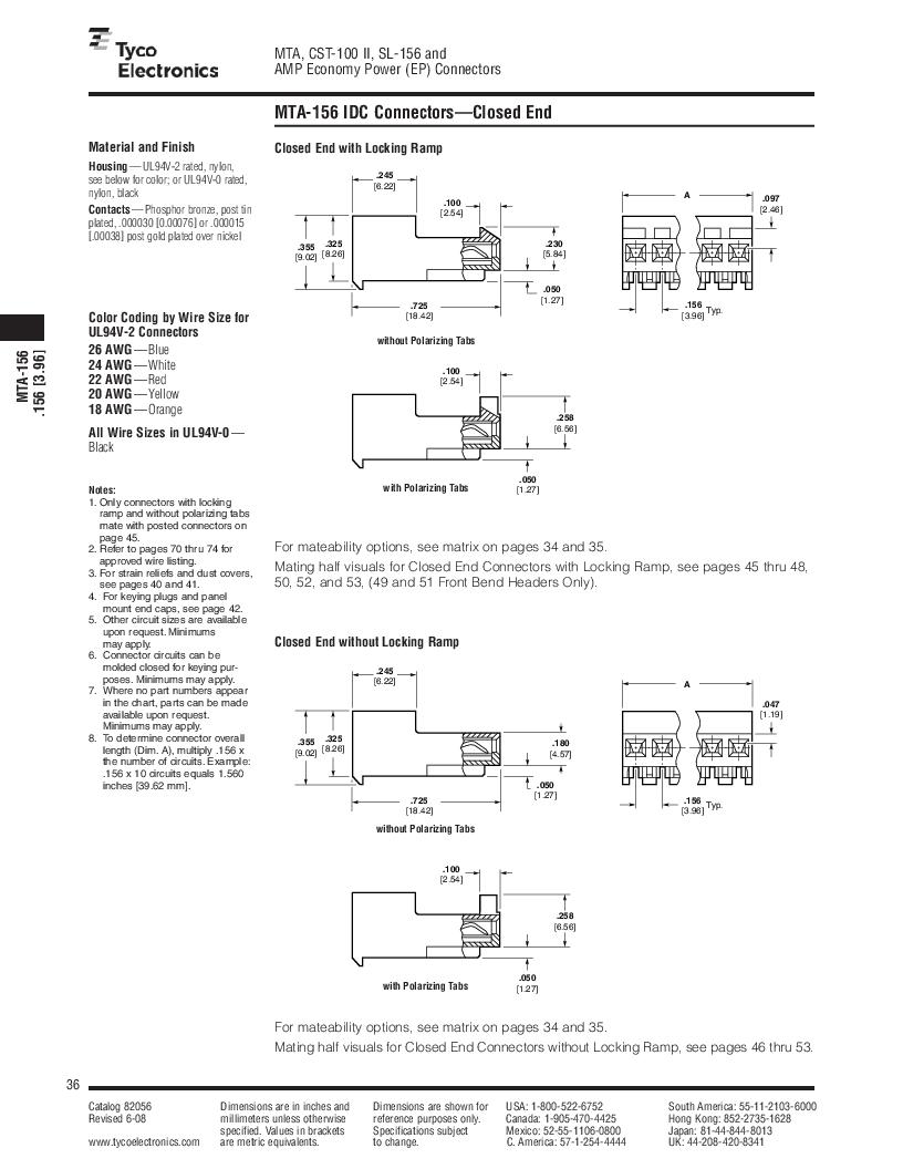 1-640455-4 ,TE Connectivity厂商,Headers & Wire Housings POLARIZED HEADER 14P Right Angle Post tin, 1-640455-4 datasheet预览  第36页