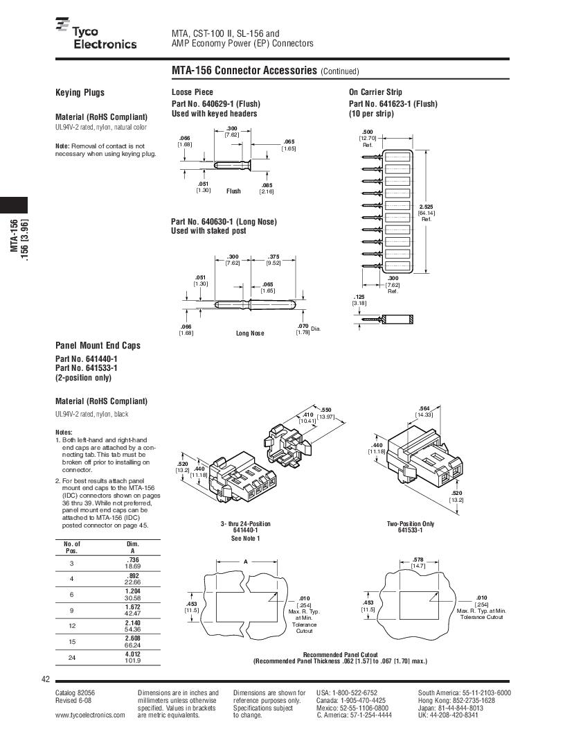 1-640455-4 ,TE Connectivity厂商,Headers & Wire Housings POLARIZED HEADER 14P Right Angle Post tin, 1-640455-4 datasheet预览  第42页