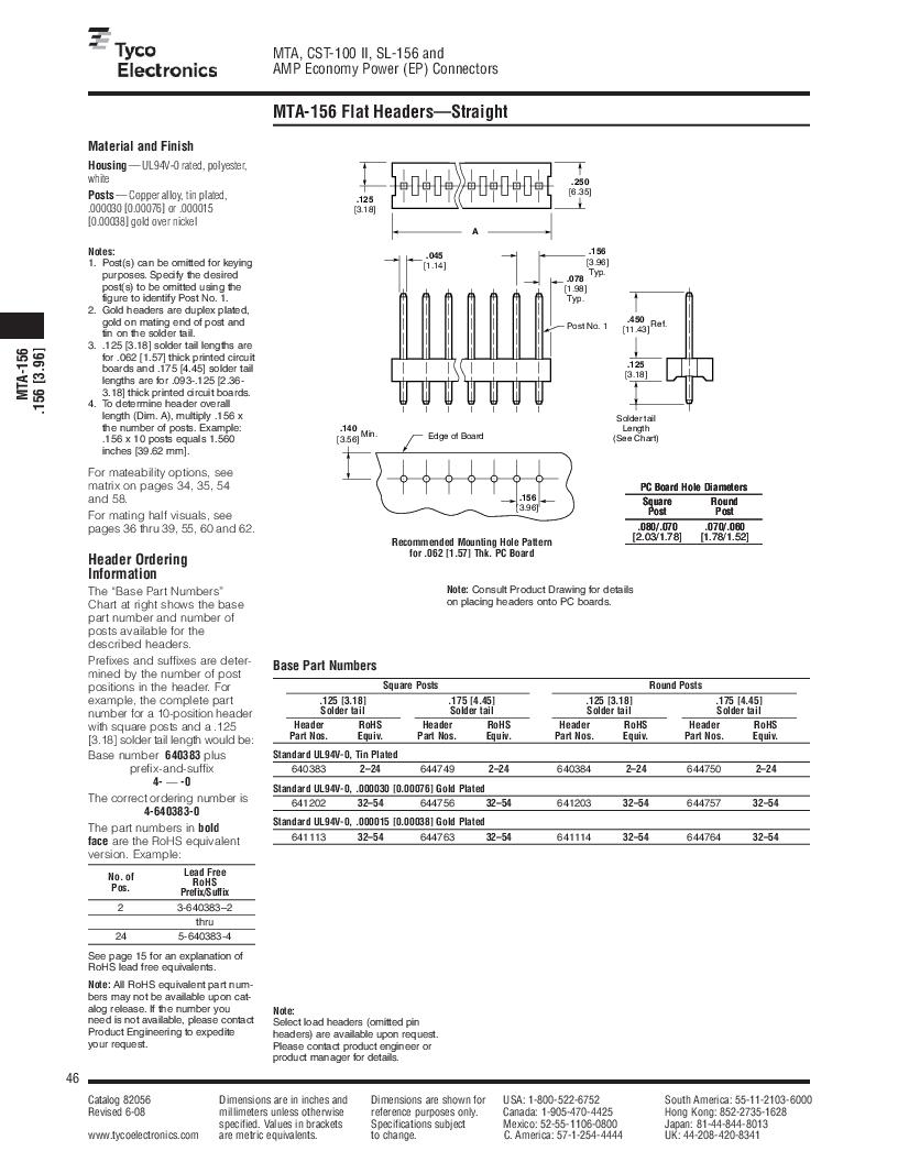 1-640455-4 ,TE Connectivity厂商,Headers & Wire Housings POLARIZED HEADER 14P Right Angle Post tin, 1-640455-4 datasheet预览  第46页