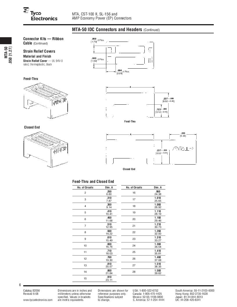 1-640455-4 ,TE Connectivity厂商,Headers & Wire Housings POLARIZED HEADER 14P Right Angle Post tin, 1-640455-4 datasheet预览  第6页