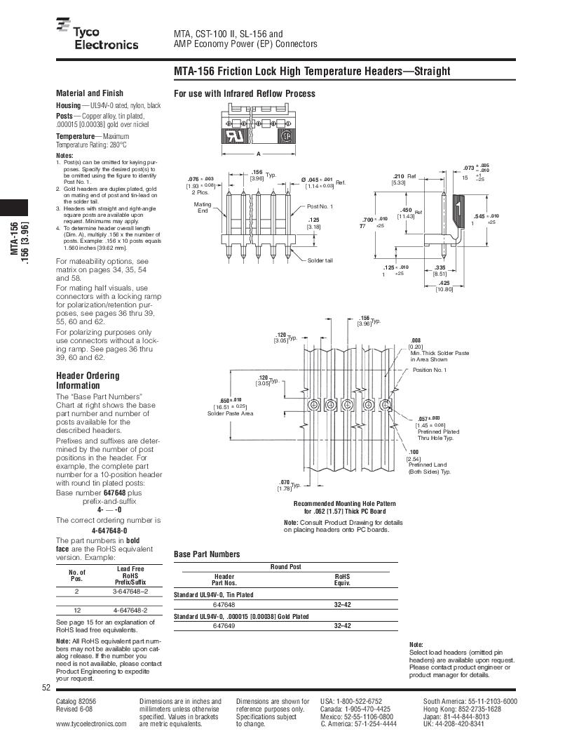 1-640455-4 ,TE Connectivity厂商,Headers & Wire Housings POLARIZED HEADER 14P Right Angle Post tin, 1-640455-4 datasheet预览  第52页