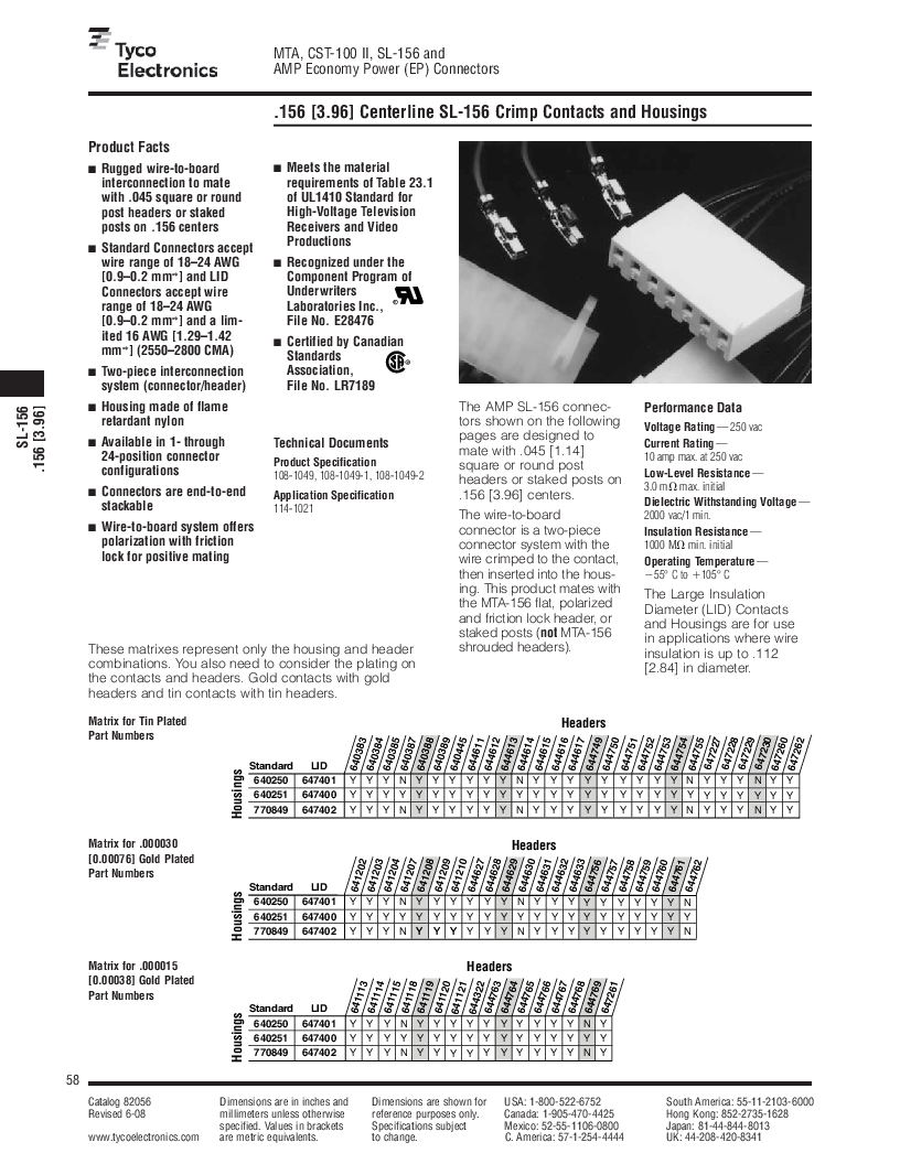 1-640455-4 ,TE Connectivity厂商,Headers & Wire Housings POLARIZED HEADER 14P Right Angle Post tin, 1-640455-4 datasheet预览  第58页
