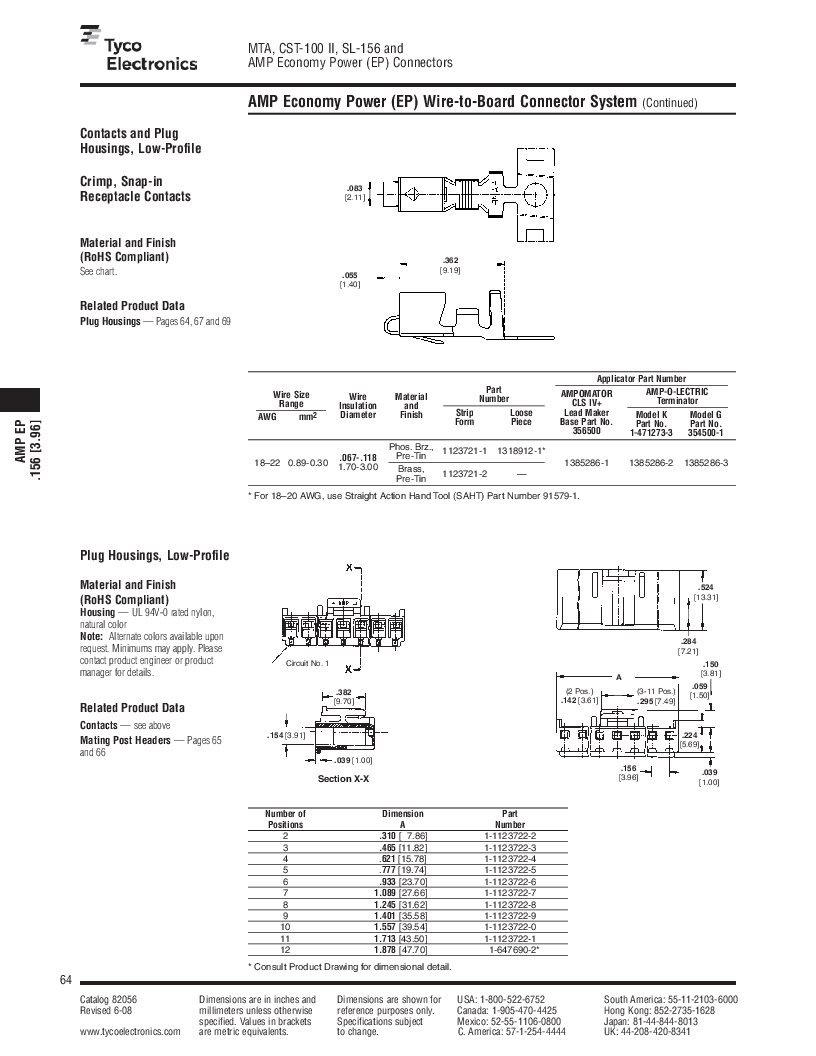 1-640455-4 ,TE Connectivity厂商,Headers & Wire Housings POLARIZED HEADER 14P Right Angle Post tin, 1-640455-4 datasheet预览  第64页