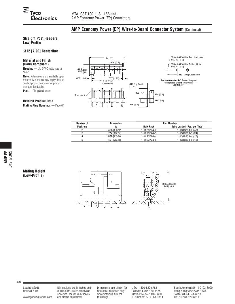 1-640455-4 ,TE Connectivity厂商,Headers & Wire Housings POLARIZED HEADER 14P Right Angle Post tin, 1-640455-4 datasheet预览  第68页