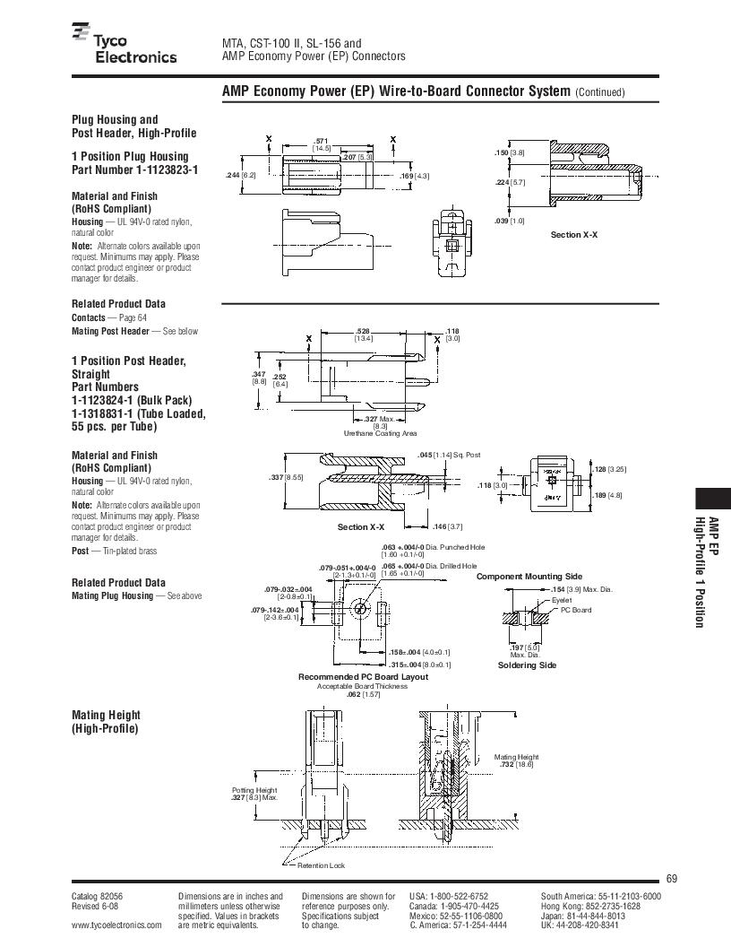 1-640455-4 ,TE Connectivity厂商,Headers & Wire Housings POLARIZED HEADER 14P Right Angle Post tin, 1-640455-4 datasheet预览  第69页