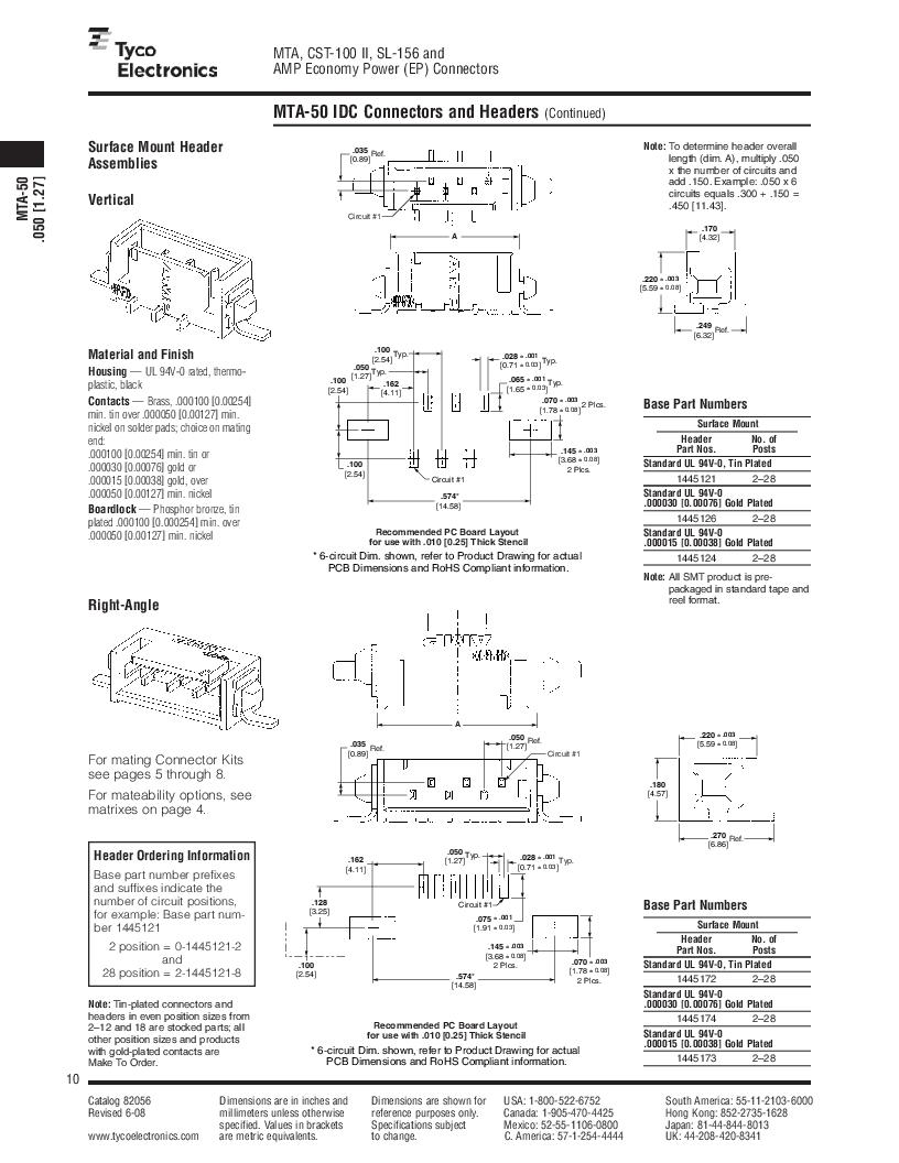 1-640455-4 ,TE Connectivity厂商,Headers & Wire Housings POLARIZED HEADER 14P Right Angle Post tin, 1-640455-4 datasheet预览  第10页